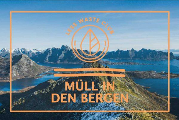Less Waste Club Müll in den Bergen